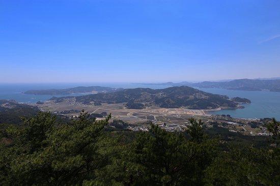陸前高田市, 岩手県, 箱根山展望台より広田半島を撮影