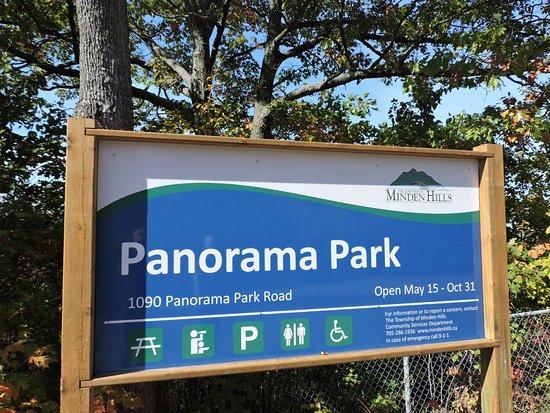 Minden, Canada: Panorama Park facilities sign
