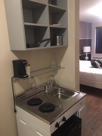 This is your kitchenette area you can see the coffee maker