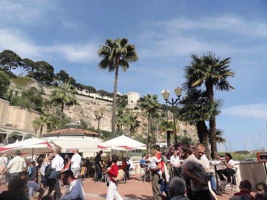 Fontvieille, Monaco: café sur le port