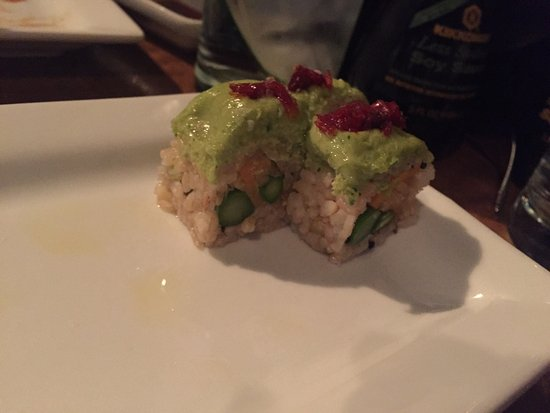 Sooo good. We had the tuna tower which was to die for!!!   We sat downstairs. Was a little loud,