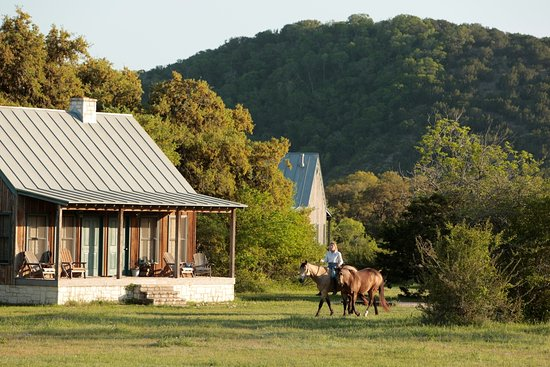Hill Country Equestrian Lodge: Windmill Cabin form the North