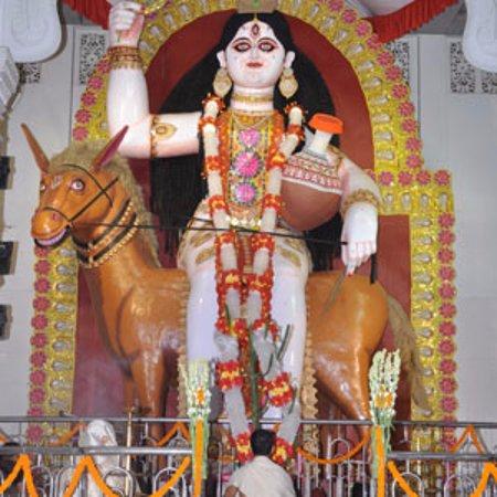 Lumding, India: Sitla Mata idol