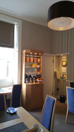 Kew House: Vue sur la salle du petit déjeuner