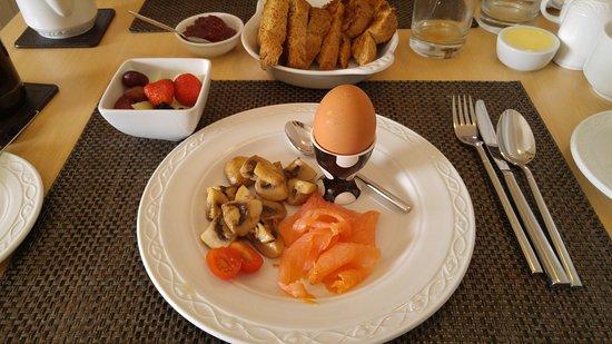 Kew House: Vue sur le petit déjeuner