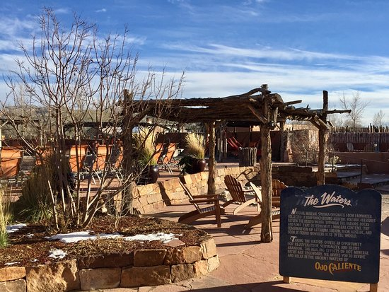 Ojo Caliente, NM: Entrance to mineral pools.