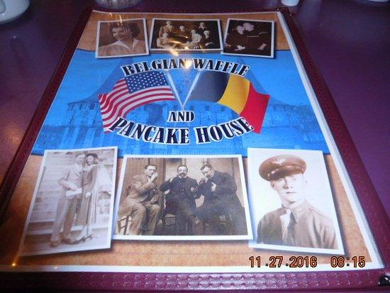 Belgian Waffle & Pancake House: MENU