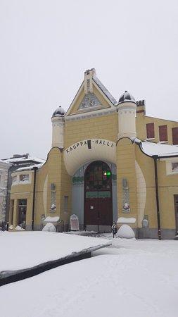 Kuopio, Finland: Le marché sous la neige