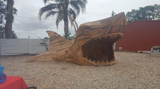 Carrara, Australia: Recycled wooden shark