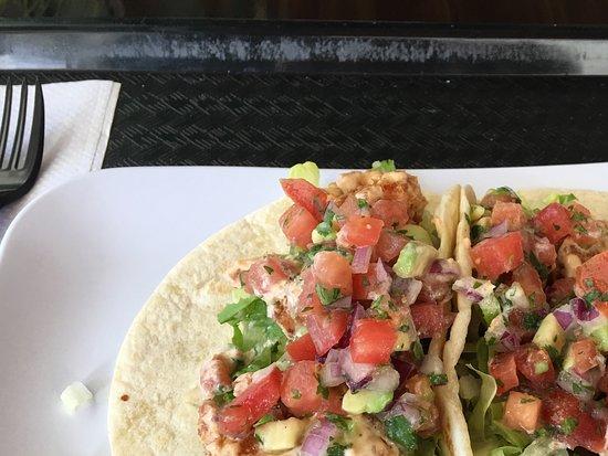 Hyatt Regency Jacksonville Riverfront: Olio Restaurant one block behind Hyatt. I had the very best fried shrimp tacos ever!