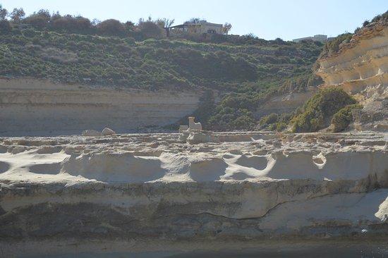 Marsaxlokk, Malta: l'errosion