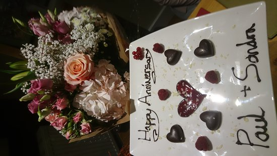 Burton upon Trent, UK: Wedding Anniversary Meal 🍴.... Thanks guys.