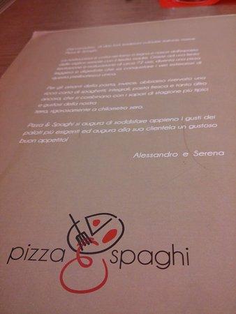 Pizza&Spaghi : Menù