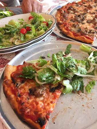 Salisbury, MD: Cold crunchy salad with tangy Italian dressing is perfect with authentic NY pizza! And it's owne