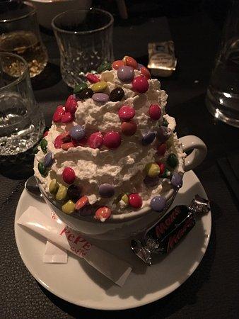 Grimbergen, Belgia: Dessert koffie M&M's