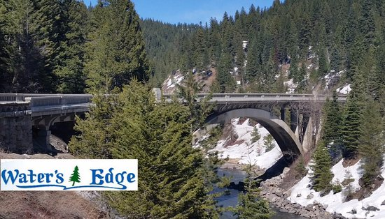 Cascade, ID: Beautiful Rainbow Bridge on Hwy 55.  Come stay at the Ashley Inn until we open Apr 25th