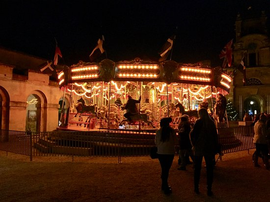Woodstock, UK: Fairground Ride at the Light Show