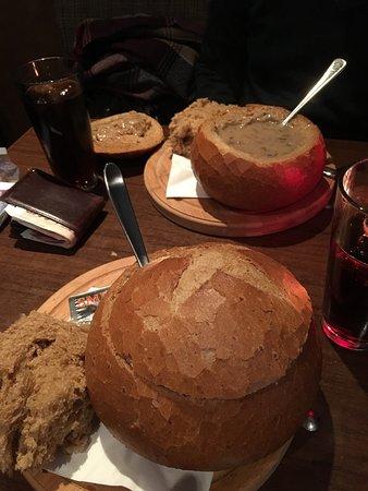 Suppe mit Fleisch&Pilzen