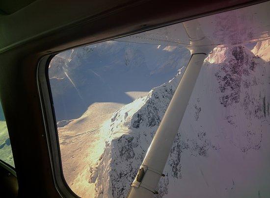 Haines, AK: Passenger view descending toward the East Arm of Glacier Bay