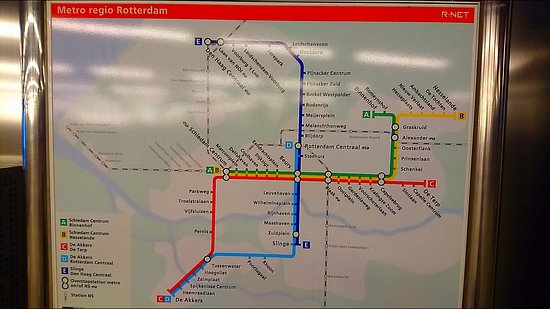Metro map Picture of Rotterdam Centraal Station Rotterdam