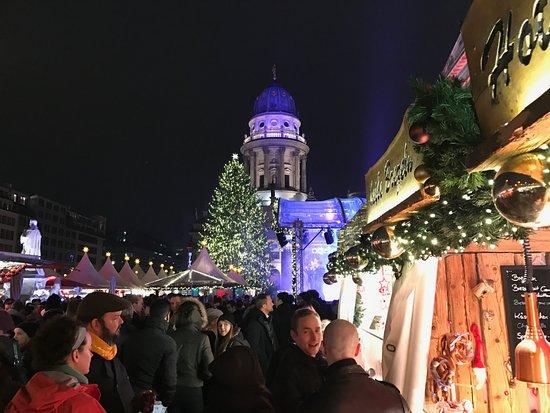 Berlin Christmas Market.Christmas Market Opposite Hotel Picture Of Hilton Berlin