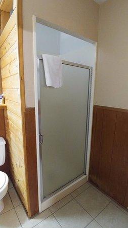 Arrowhead Lodge : Tiny shower