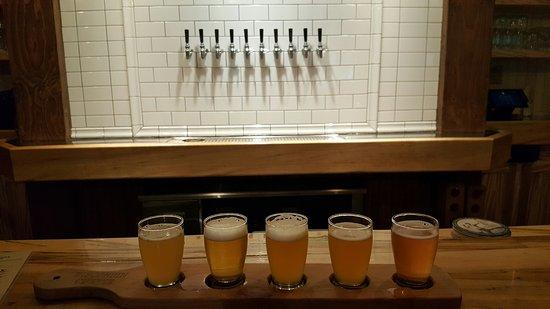 Baileys Harbor, Висконсин: Flight of beers