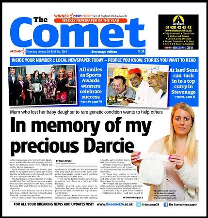 Stevenage, UK: local news paper covarage