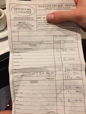 Rubiera, Italy: € 80 al Kg un po' eccessivo