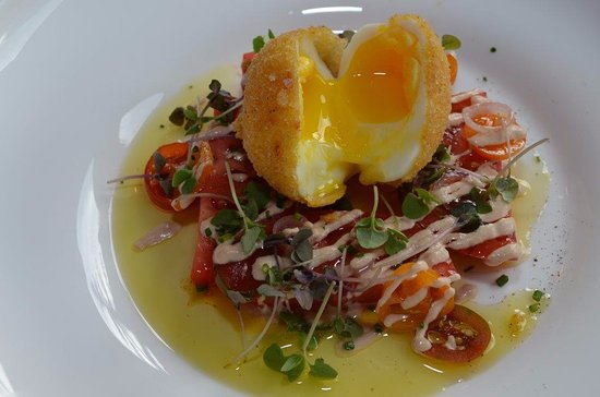 Beaver Creek, Colorado: Summer Tomatoes, crispy egg