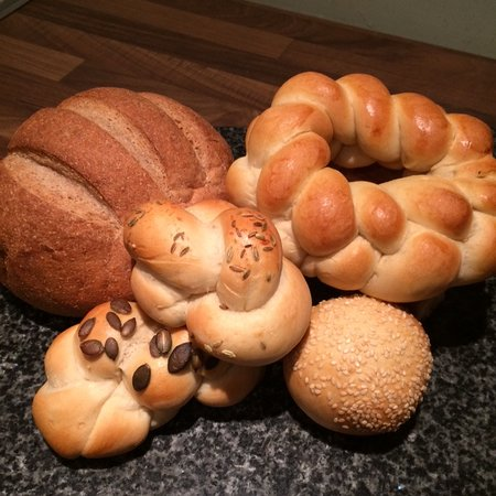 Langho, UK : Results from the beginners breadmaking course.