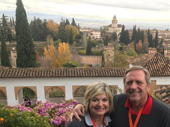 Alhambra Private Tours: View of the Palace and city from the gardens