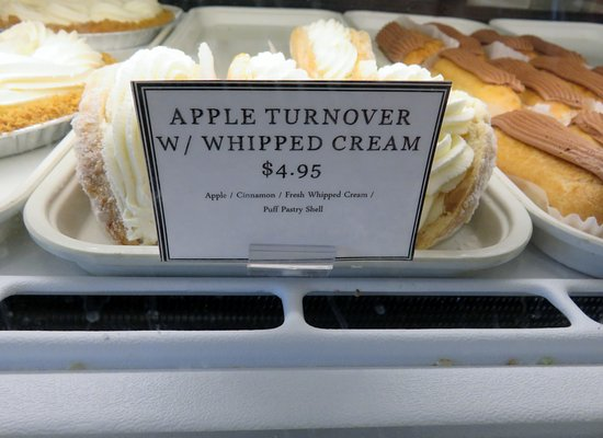 Brockton, MA: Apple Turnover with whipped cream