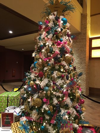 Mulvane, KS: Local organizations decked out trees, to represent their causes. Casino patrons voted on best re