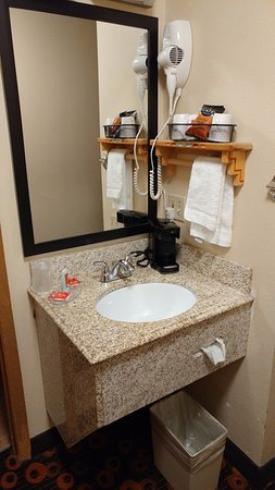 Econo Lodge Inn & Suites: Sink right outside the potty room.