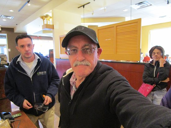 Smithfield, RI: Louis and other people at Panera Bread.