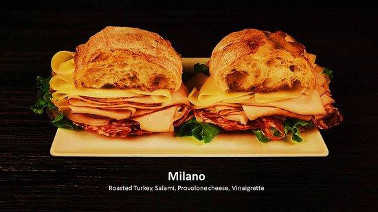 lamazou oven roasted turkey salami and provolone