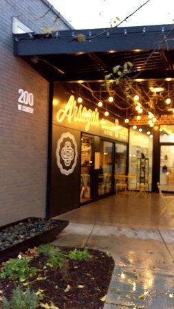 Fayetteville, AR: coffee entrance