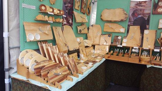 Salamanca Market: Huon pine products