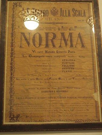 Museo Civico Belliniano : affiche première de Norma