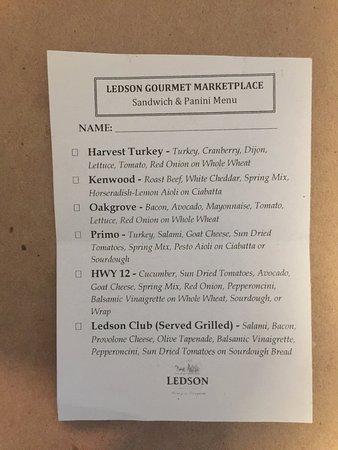 Kenwood, CA: menu