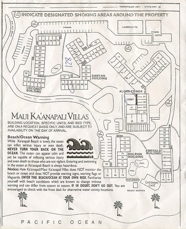 Aston Maui Kaanapali Villas: Resort Map