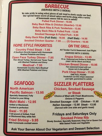 Hernando, FL: NEW MENU 12/3/16