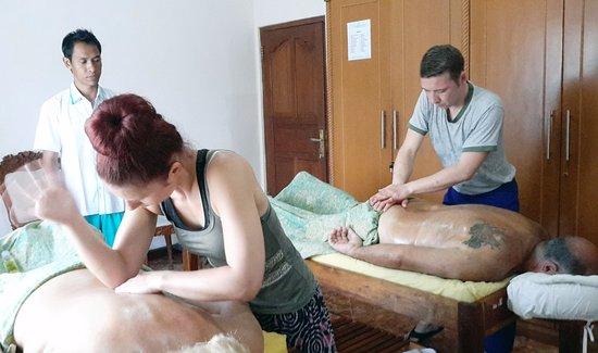 wife Husband massage and