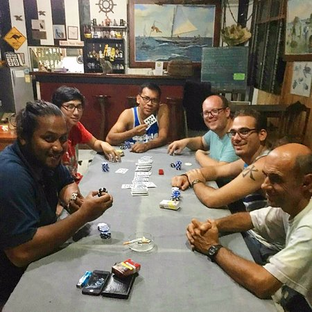 Jagna, Philippines: Poker night with friends