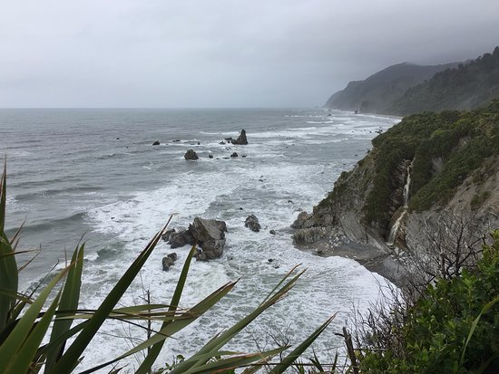 Westport, New Zealand: view from labyrinth