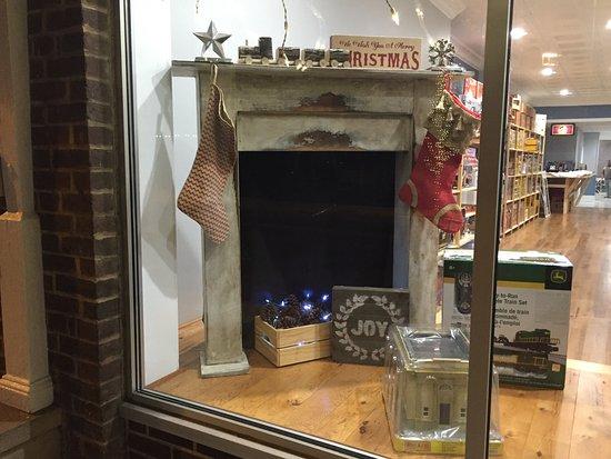 #strasburghobbies #christmas2016 #storefrontwindow #trains #slotcars