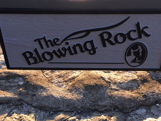 Blowing Rock, NC: the sign