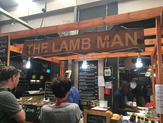 Hout Bay, Afrique du Sud : Best food in the market! The Lamb Man!