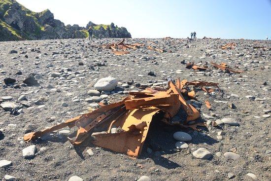 Hellnar, Iceland: Ruins from 1948 shipwreck along the Djupalonssandur beach